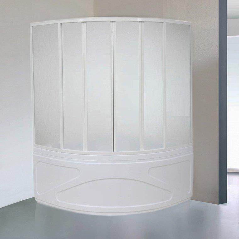 Шторка на ванну Bas Хатива 6 ств., пластик