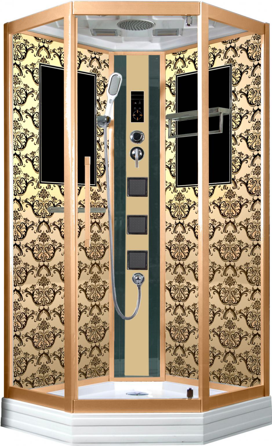 Душевая кабина Niagara Lux 7717G золото