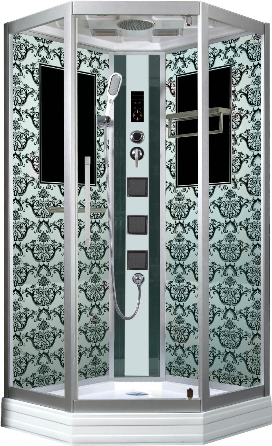 Душевая кабина Niagara Lux 7717W хром, металлик