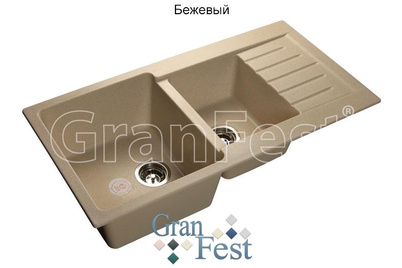 Мойка из мрамора GRANFEST PRACTIC (P-980 KL беж)