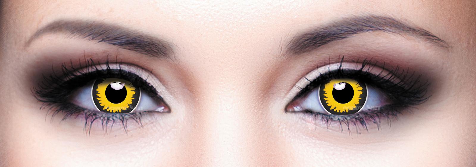 Контактные линзы Eye Free Colors Crazy Волк-Черный-043 2 линзы