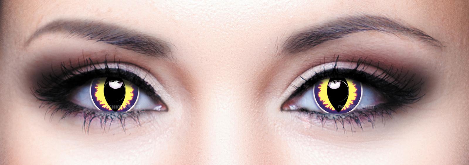 Контактные линзы Eye Free Colors Crazy Дьявол-фиолетово-желтый-083 2 линзы