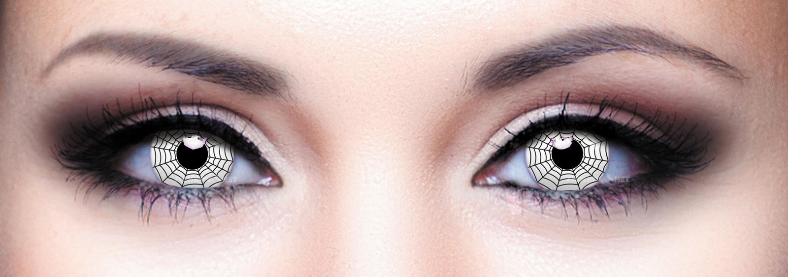 Контактные линзы Eye Free Colors Crazy Паутина-белая-056 2 линзы