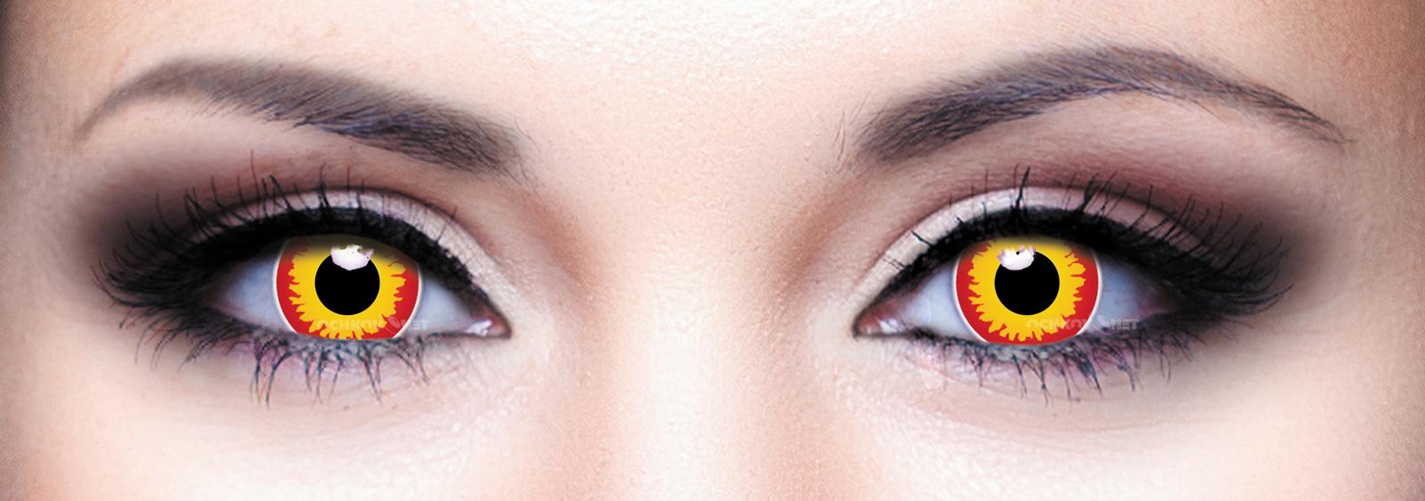 Контактные линзы Офтальмикс Butterfly Crazy 2 линзы F-18 Волчий глаз