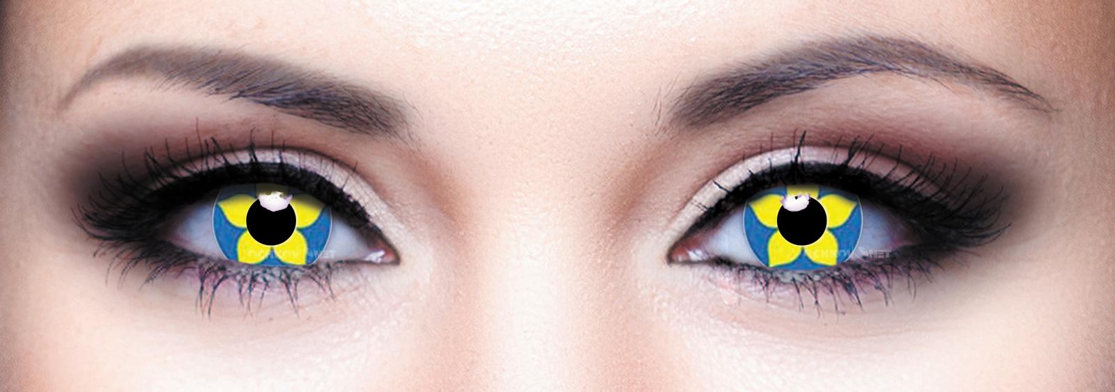Контактные линзы Eye Free Colors 001 Подсолнух 2 линзы