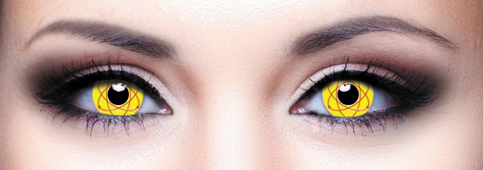 Контактные линзы Eye Free Colors 045 Желтый атом 2 линзы