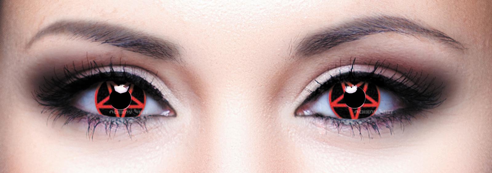 Контактные линзы Eye Free Colors 107 Пентаграмма 2 линзы
