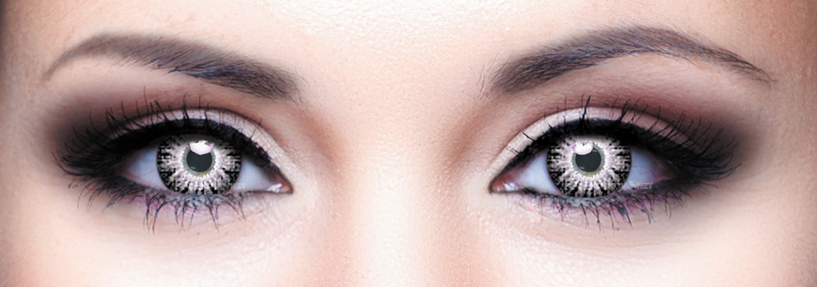 Контактные линзы Illusion Fashion Luxe Серый Grey (2 линзы)