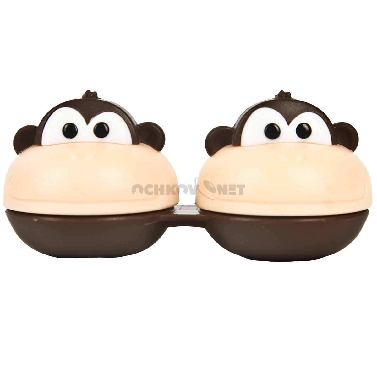 Контейнер MIO FRIENDS - контейнер для линз (обезьянка) + пинцет