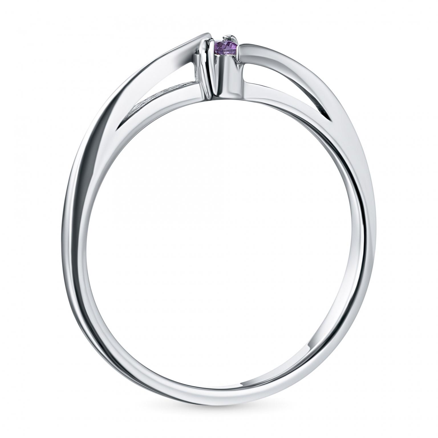 Кольцо из серебра с аметистом э0607к_090917