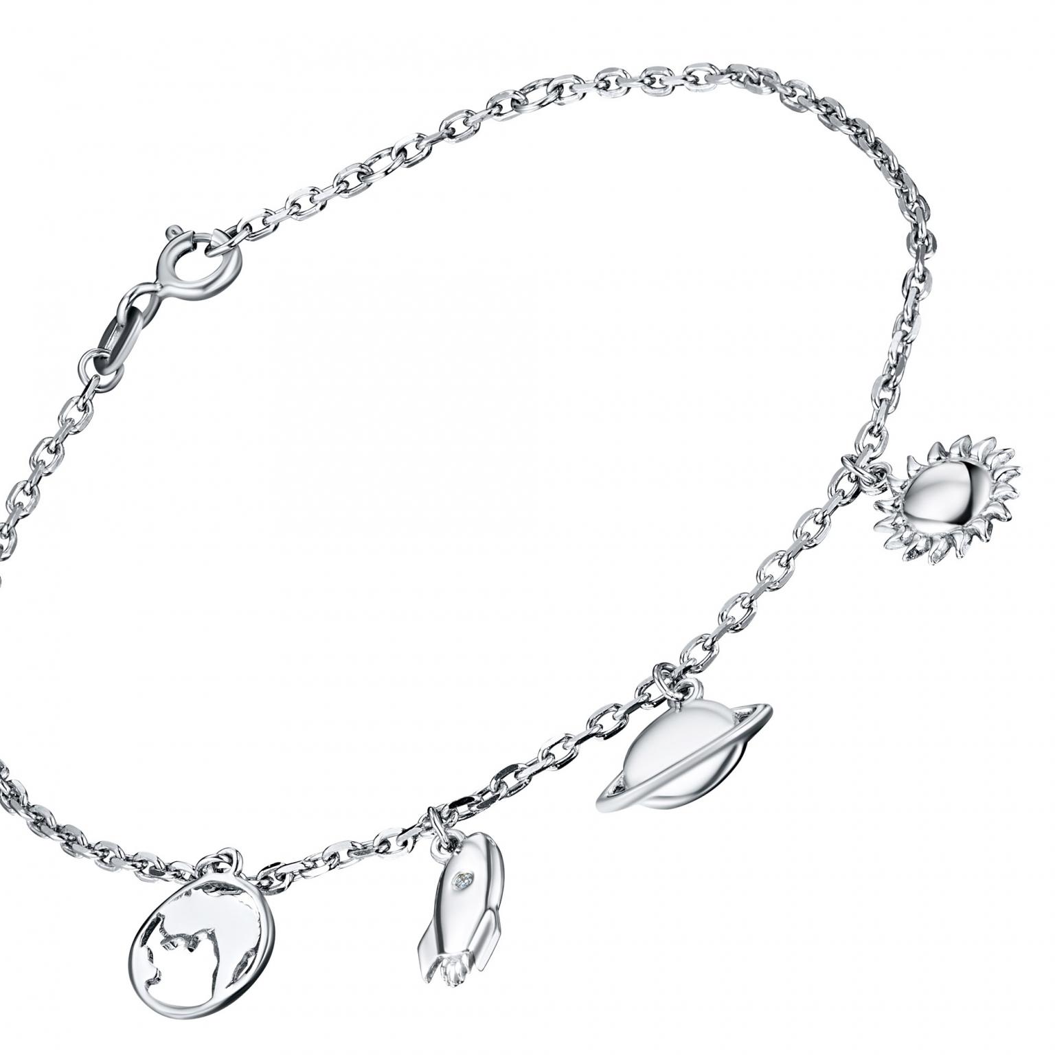 Браслет из серебра с бриллиантом э0601бр04201594
