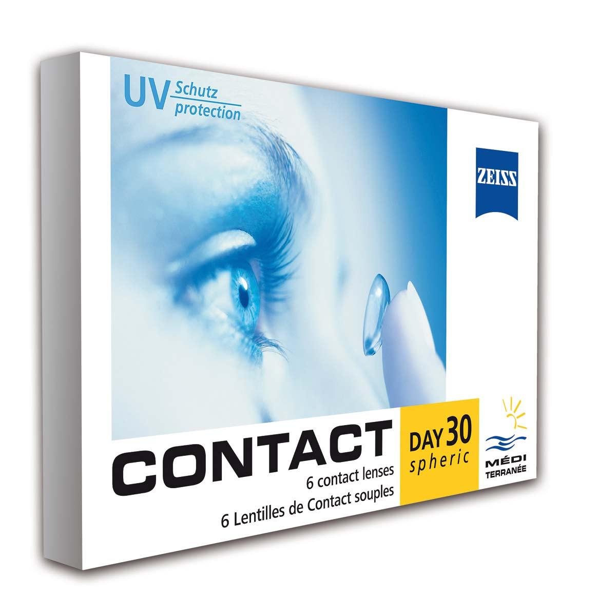 Контактные линзы Contact Mediterranee 6 линз упаковка