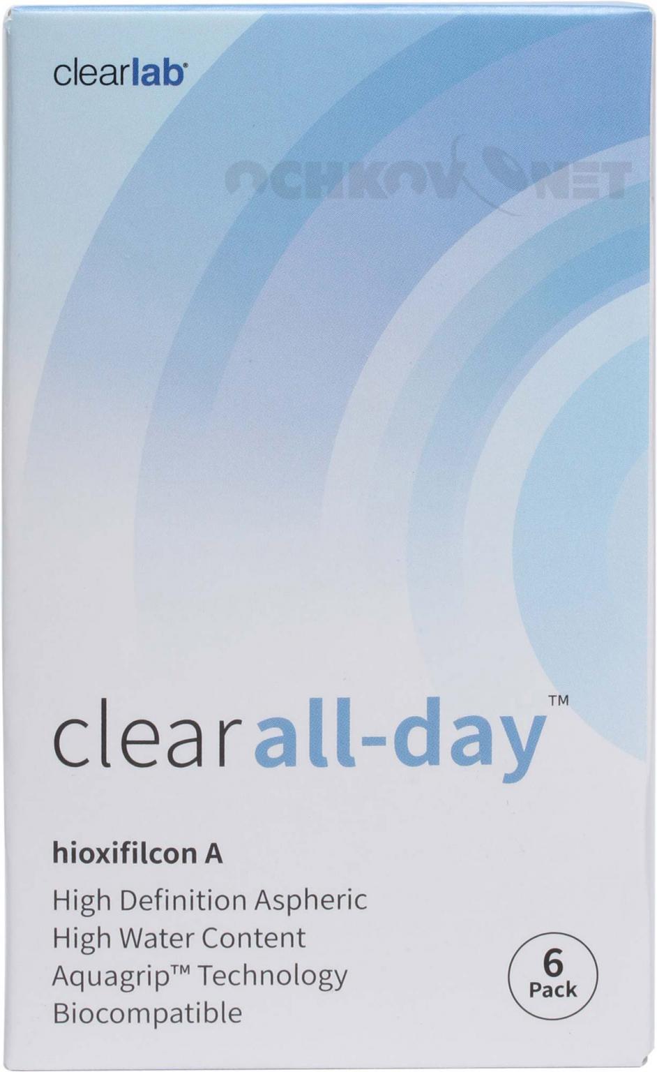 Контактные линзы Clear All day 6 линз (упаковка)