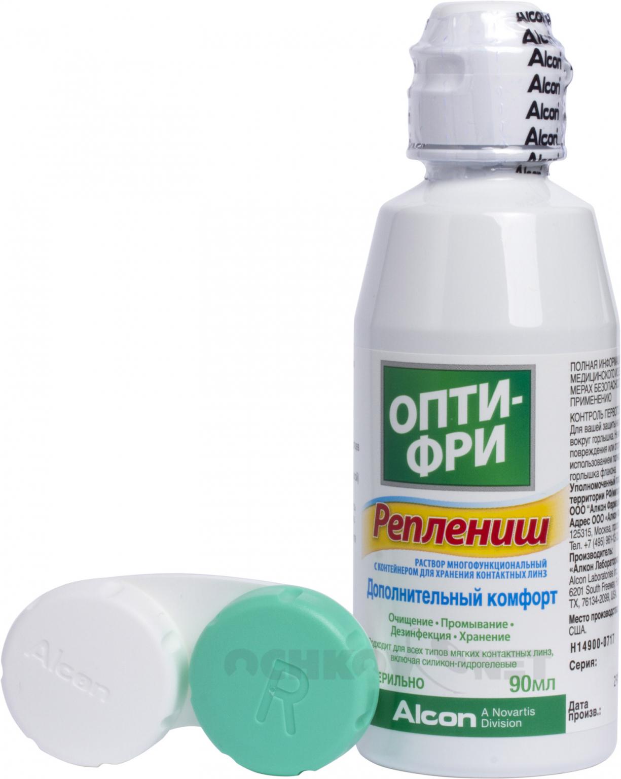Раствор OptiFree RepleniSH 90 мл