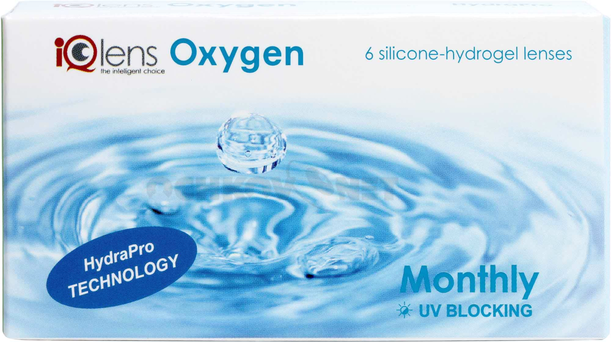 Контактные линзы IQLens Oxygen Monthly, 6 линз