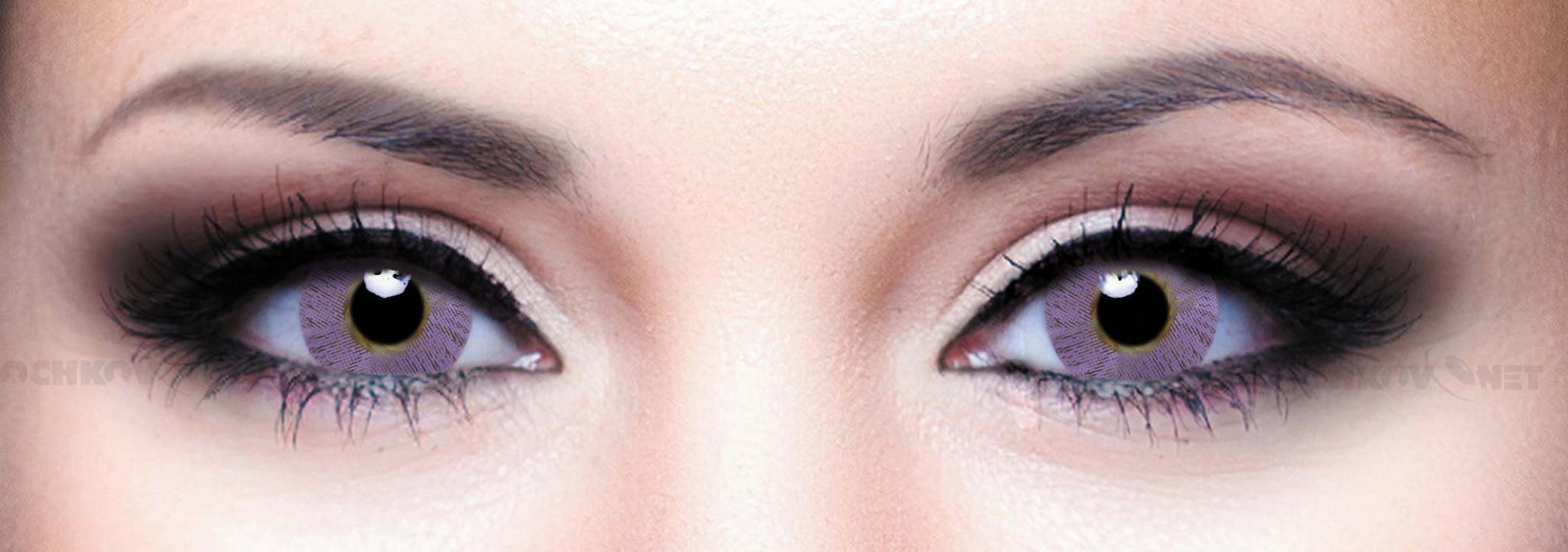 Контактные линзы Illusion Colors Shine Фиолетовый Violet (2 линзы)