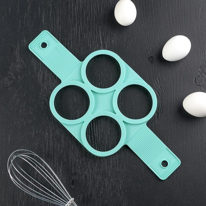Форма для яичницы и блинов Круги, 4 ячейки