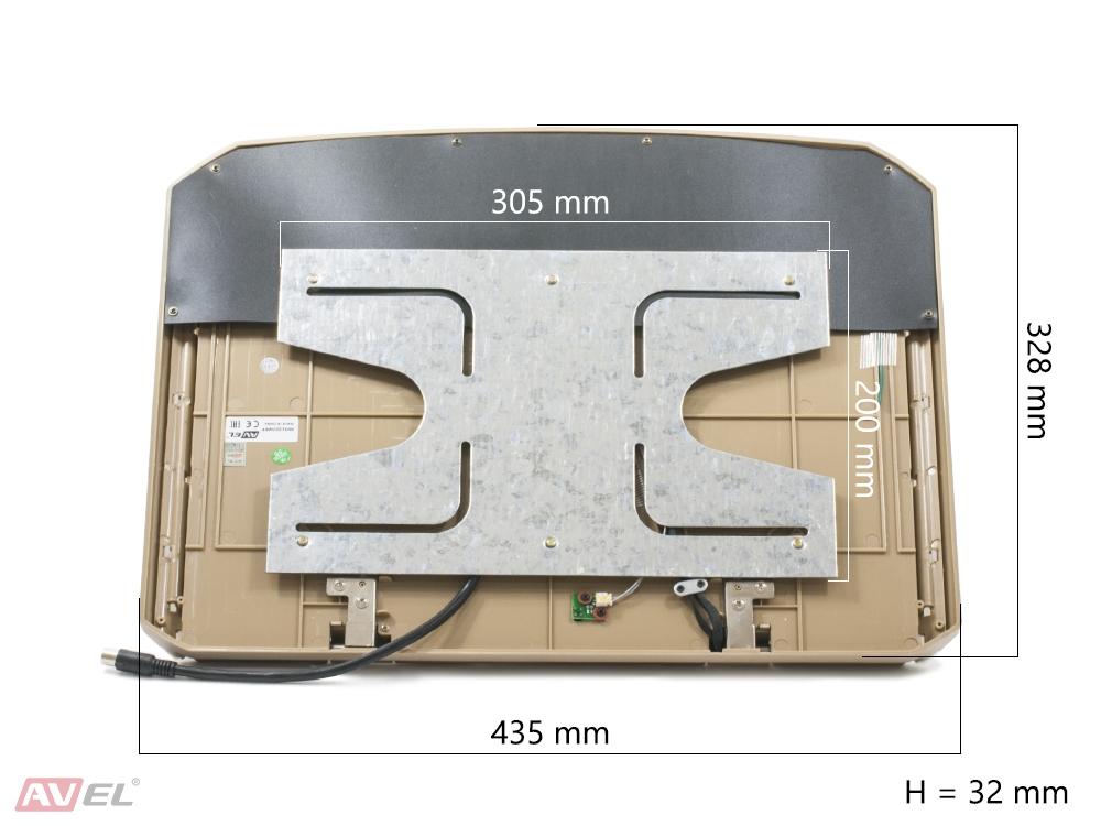 """Потолочный монитор 15,6"""" со встроенным Full HD медиаплеером AVS1507MPP (бежевый) (+ Антисептик-спрей для рук в подарок.."""