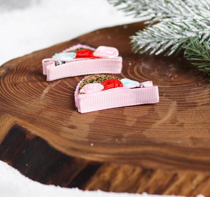 Заколки-ушки на подложке «Рыжее чудо», 8,5 х 9 см