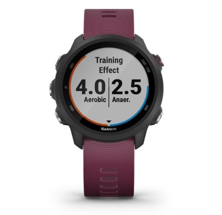 Часы для бега Garmin Forerunner 245 черный с вишневым ремешком