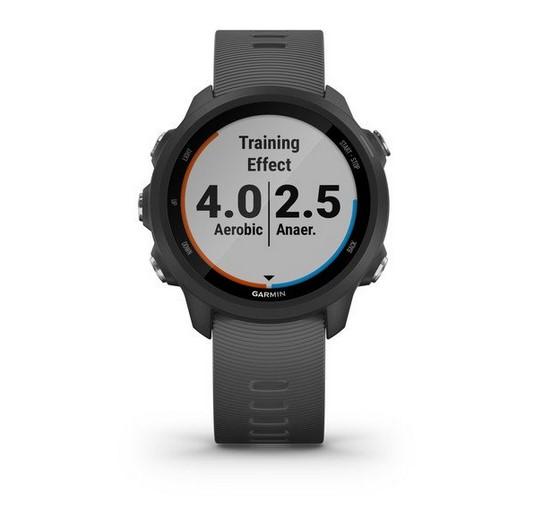 Часы для бега Garmin Forerunner 245 черный с серым ремешком