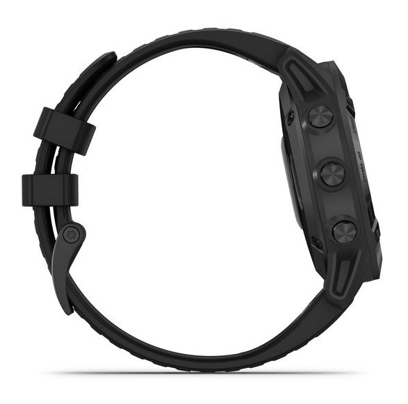 Черные часы Garmin Fenix 6 PRO с черным ремешком