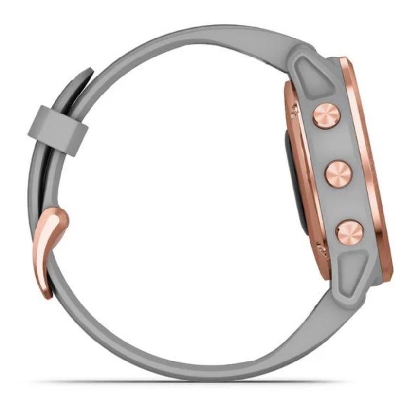 Garmin Fenix 6S Sapphire розовое золото с серым ремешком