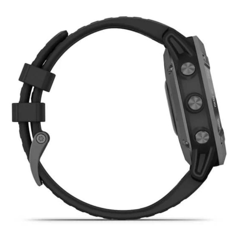Garmin Fenix 6 PRO Solar серый с черным ремешком