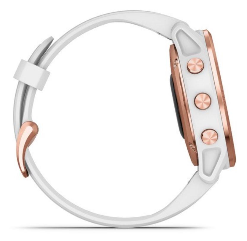 Garmin Fenix 6S PRO розовое золото с белым ремешком