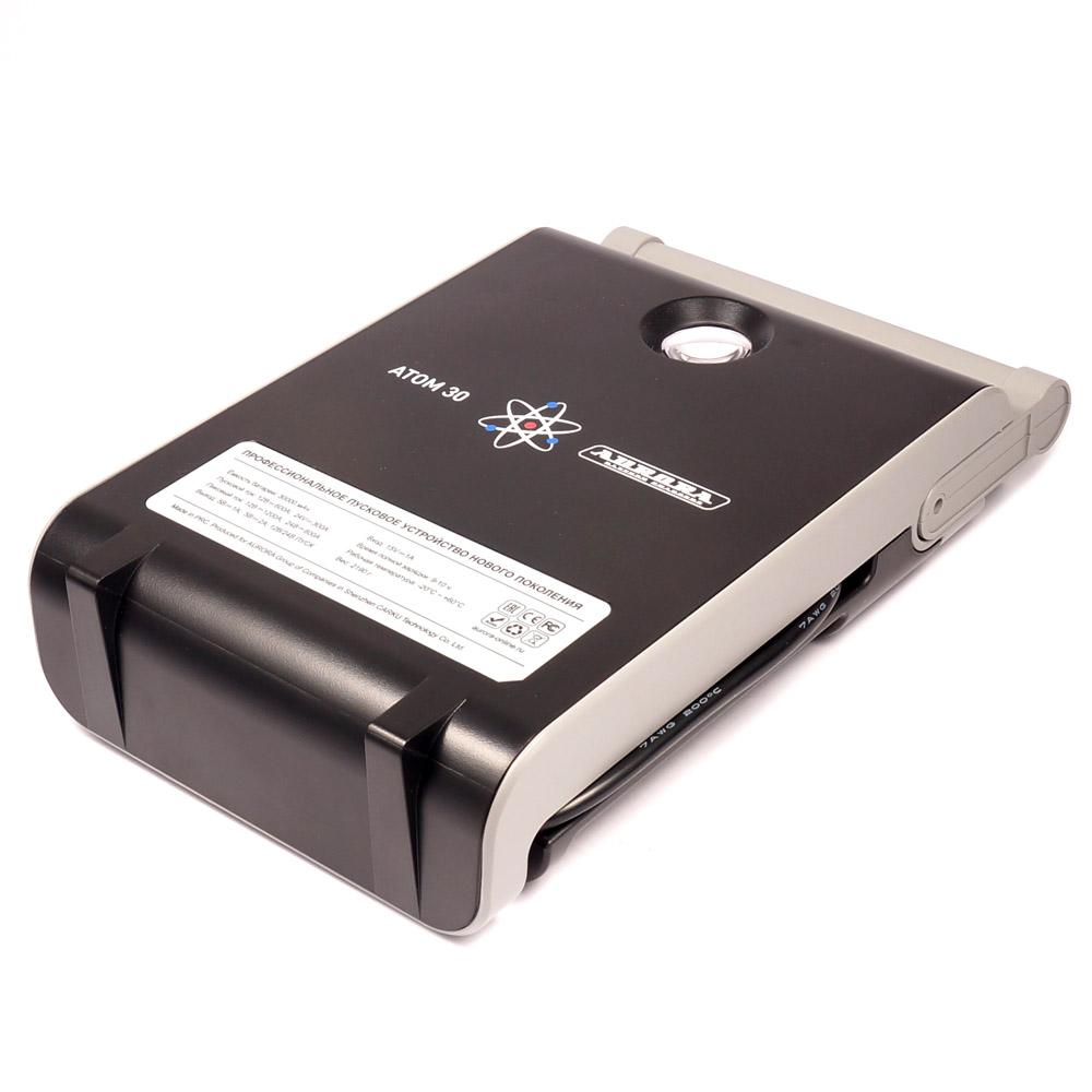 Профессиональное пусковое устройство AURORA ATOM 30 30000 мА/ч (12/24В) (+ Антисептик-спрей для рук в подарок!)
