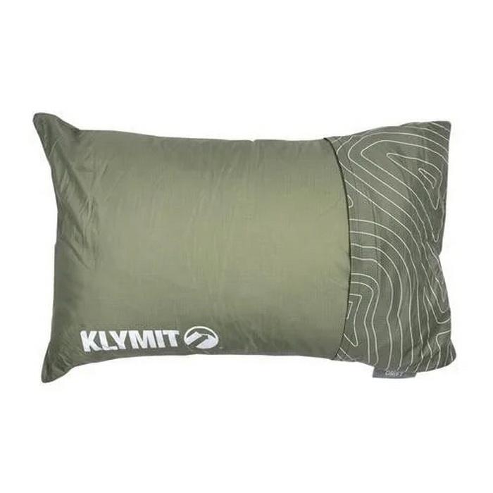 Подушка Drift Camp Pillow Regular зеленая (+ Антисептик-спрей для рук в подарок!)