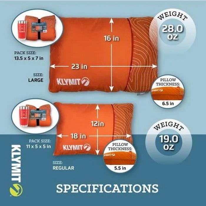 Подушка Drift Camp Pillow Large оранжевая (+ Антисептик-спрей для рук в подарок!)