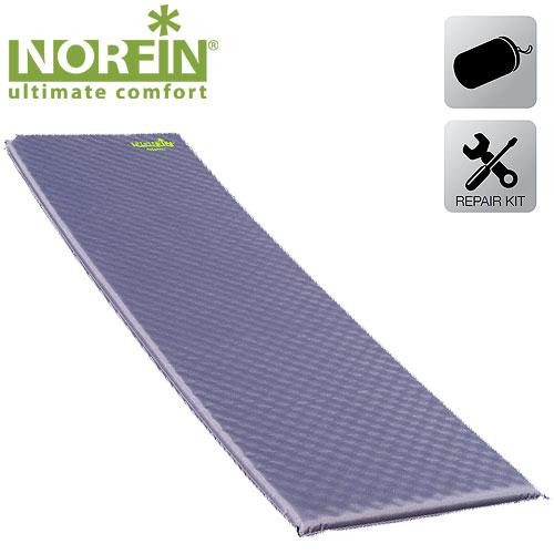 Коврик самонадувающийся Norfin ATLANTIC NF 3.8см (+ Антисептик-спрей для рук в подарок!)