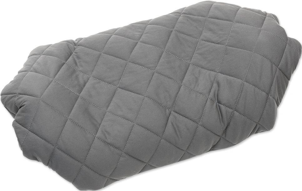 Надувная подушка Pillow Luxe Grey, серая (+ Антисептик-спрей для рук в подарок!)