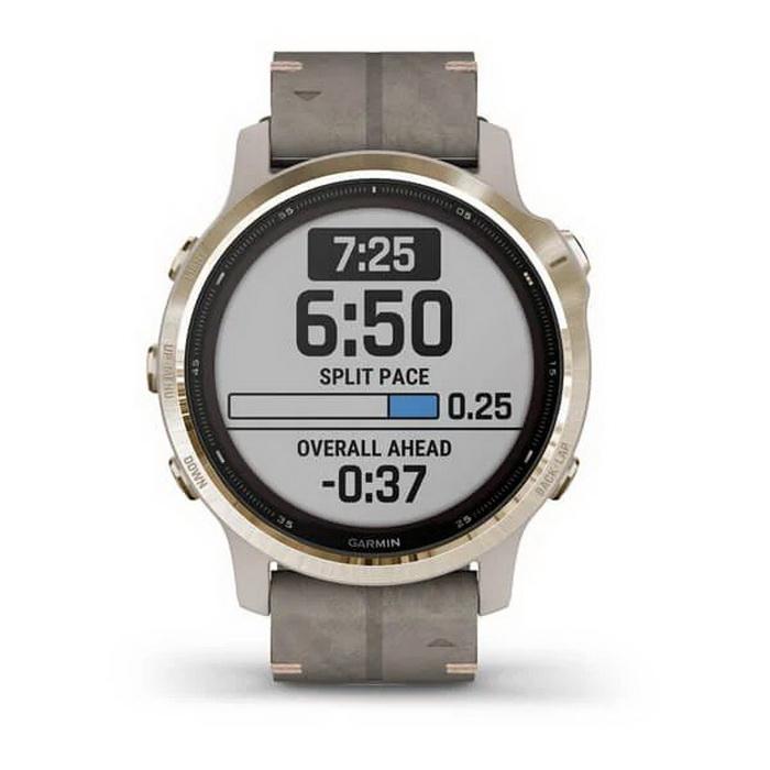 Часы Garmin Fenix 6s Pro Solar золотистый