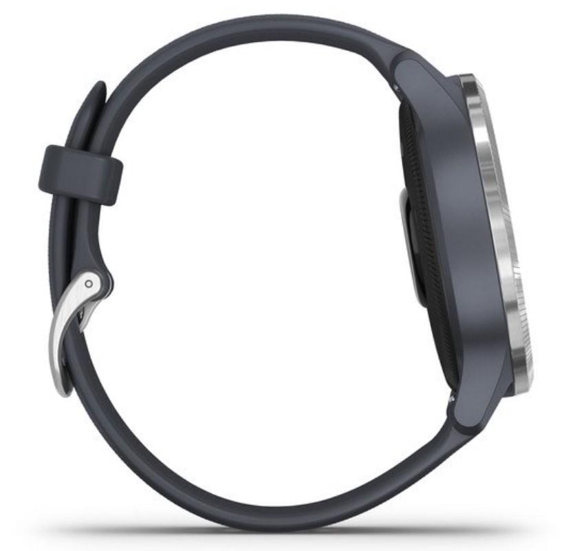 Смарт-часы Garmin Venu синий гранит с серебристым безелем