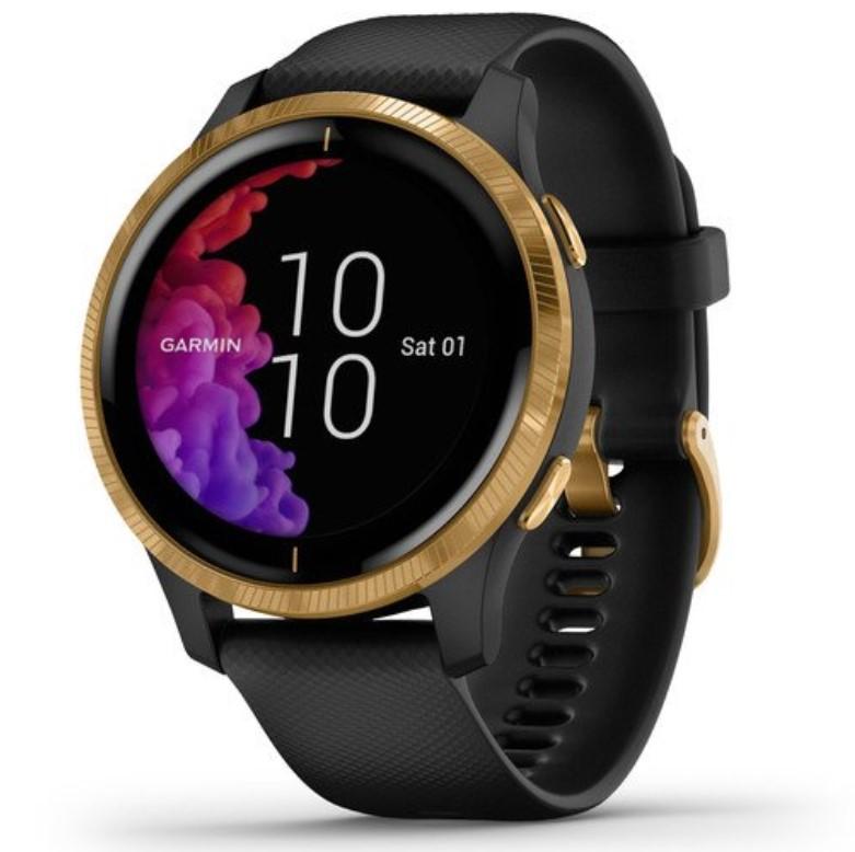 Смарт-часы Garmin Venu черные с золотистым безелем