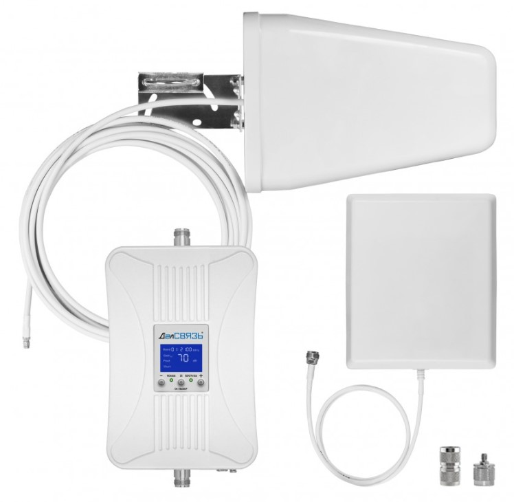 Готовый комплект усиления сотовой связи Далсвязь DS-2100/2600-17С2 (+ Кронштейн в подарок!)