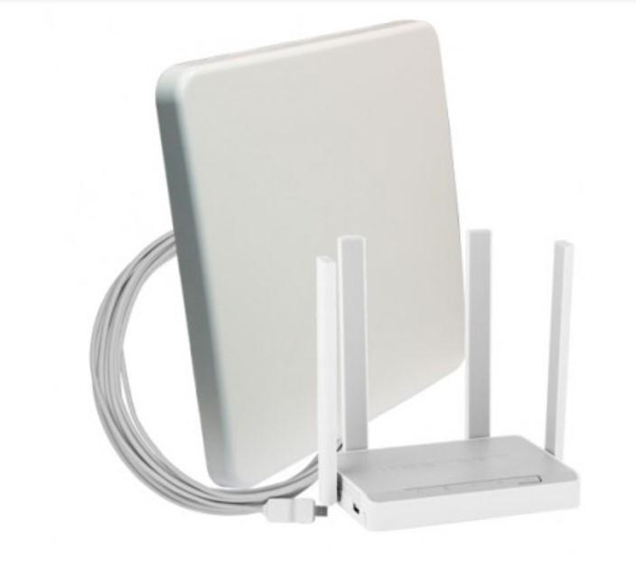 Комплект для мобильного интернета WiFi 3G/4G DS-Link DS-4G-18M L-4 (Антенна MIMO 18дБ, USB кабель 10м, роутер Wi-Fi 2...