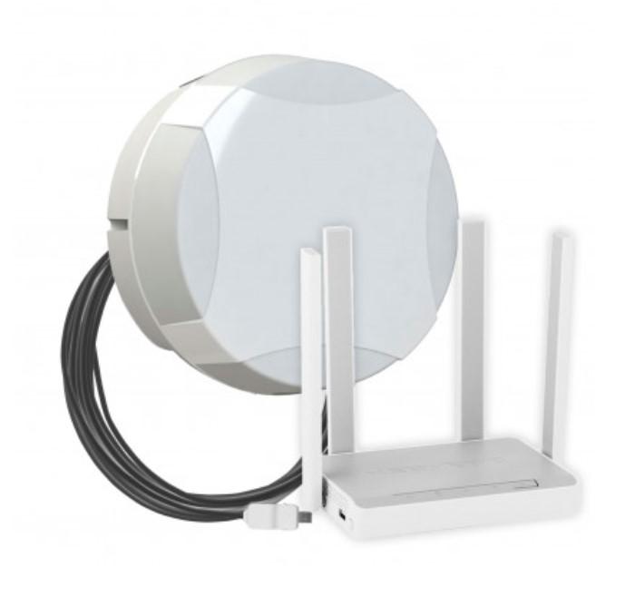 Комплект для мобильного интернета WiFi 3G/4G ДалСвязь DS-4G-15M L4-2.4-5 ( панельная секторная антенна 15 дБ, USB кабе..
