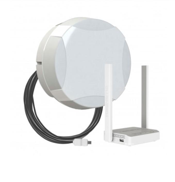 Комплект для мобильного интернета WiFi 3G/4G ДалСвязь DS-4G-15M L3-2.4 ( панельная секторная антенна 15 дБ, USB кабель..