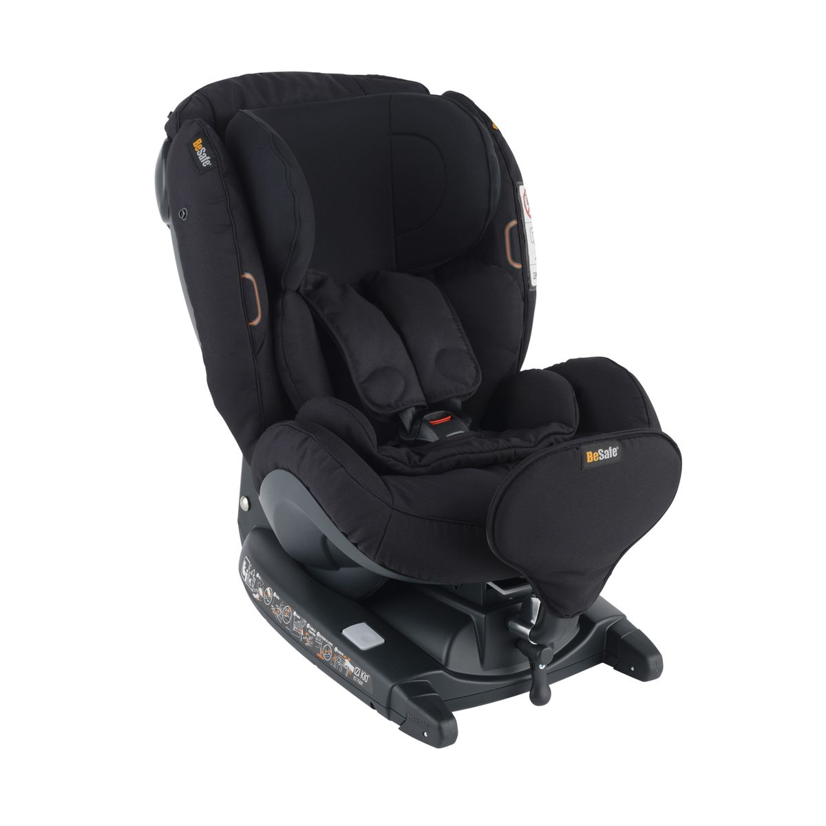 Автокресло BeSafe iZi Kid X3 i-Size Fresh Black Cab (+ Защитный чехол СМЕШАРИКИ в подарок!)