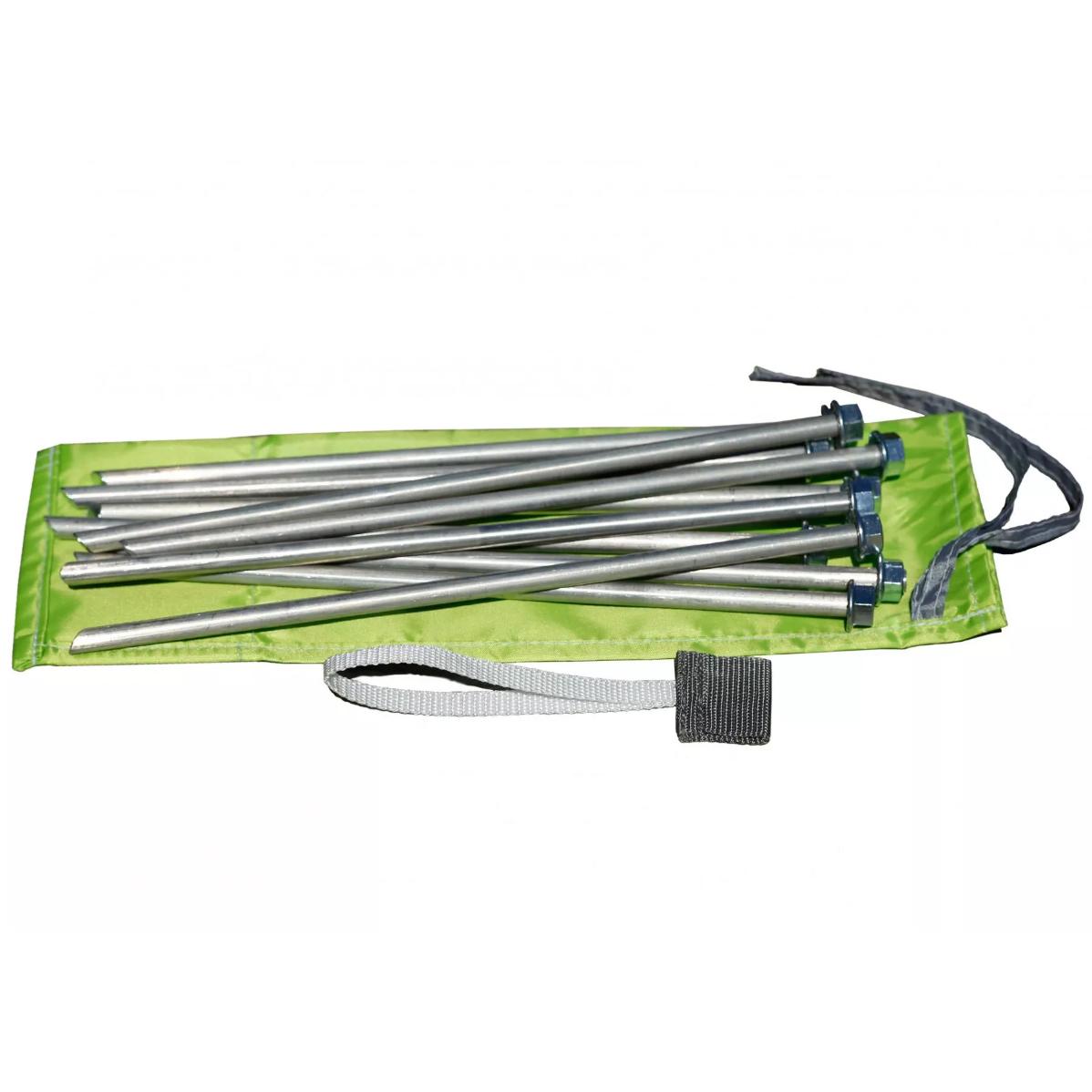 Колышки для палатки штормовые (алюм.сплав 9,0х300мм, комплект 10 шт) (+ Антисептик-спрей для рук в подарок!)