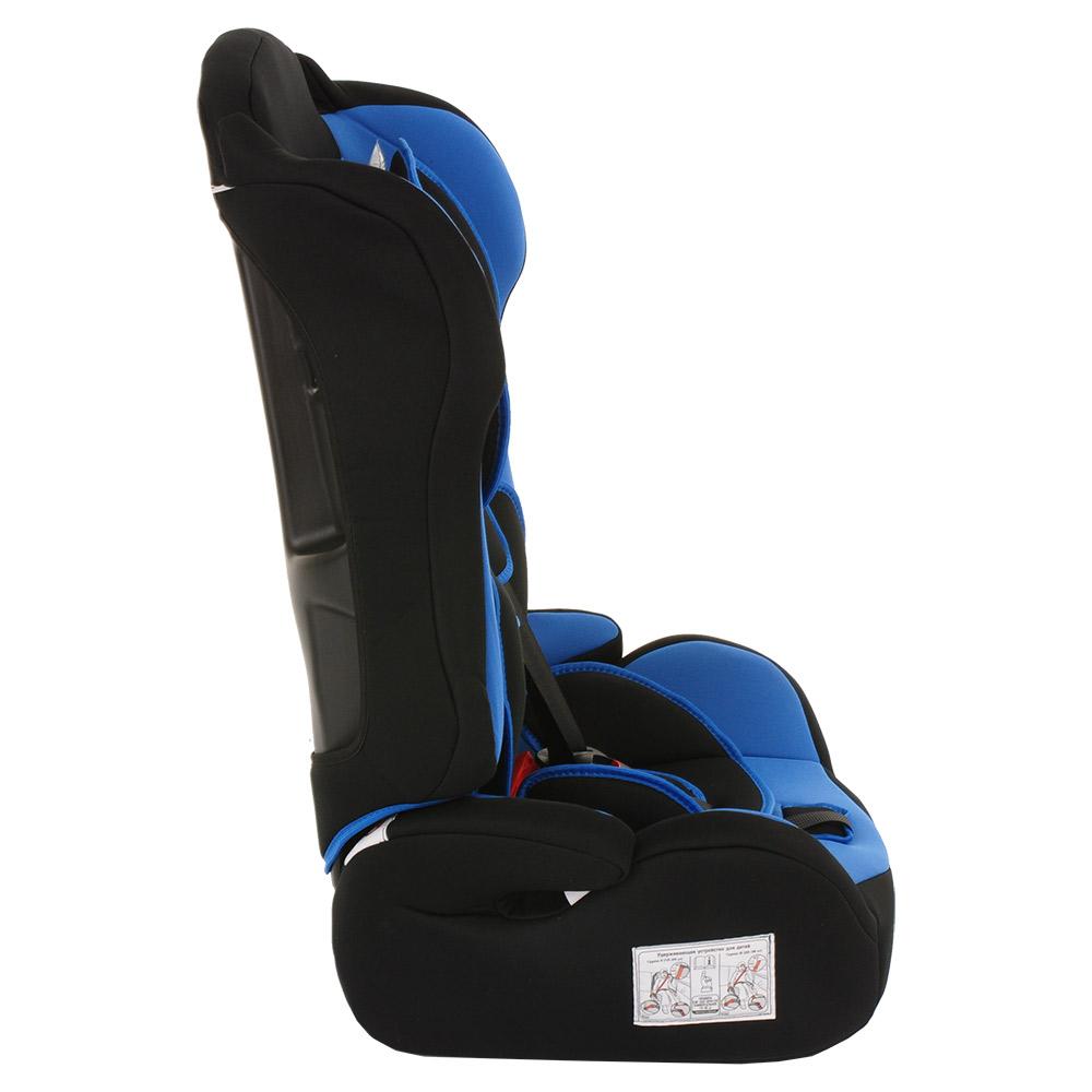 Автокресло BAMBOLA PRIMO Черный/Синий (+ Защитный чехол СМЕШАРИКИ в подарок!)
