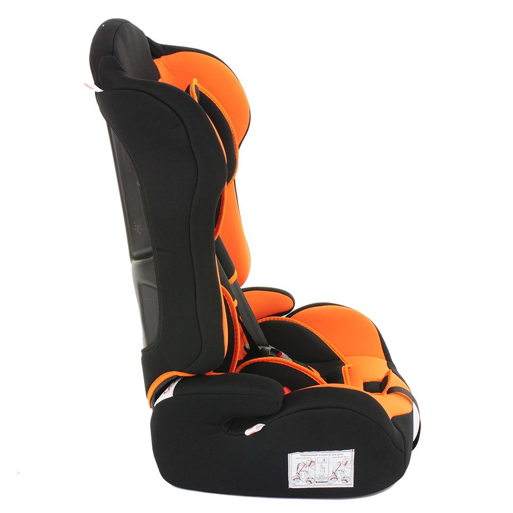 Автокресло BAMBOLA PRIMO Черный/Оранжевый (+ Защитный чехол СМЕШАРИКИ в подарок!)