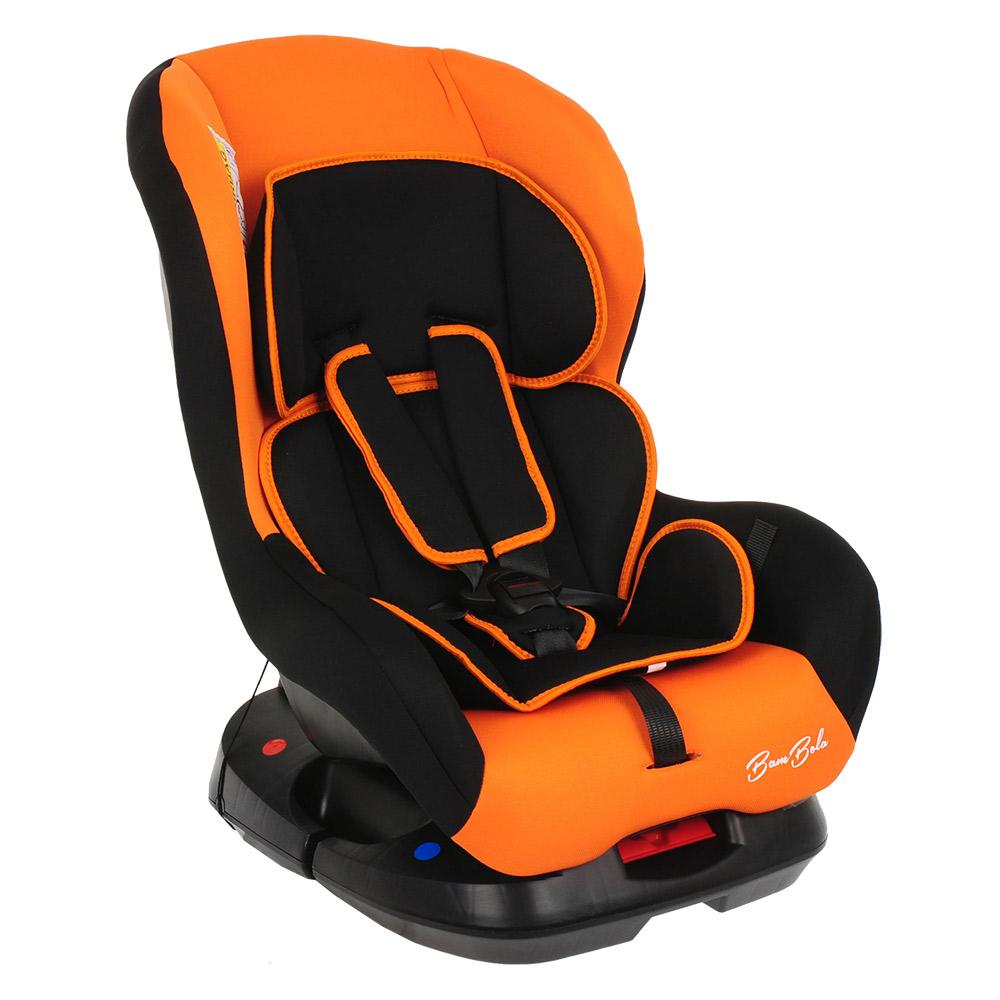 Автокресло BAMBOLA BAMBINO Черный/Оранжевый (+ Защитный чехол СМЕШАРИКИ в подарок!)