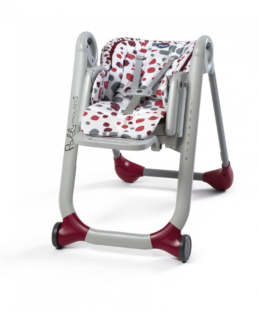 Стульчик для кормления Chicco Polly Progres5 Red (+ Защитный чехол СМЕШАРИКИ в подарок!)