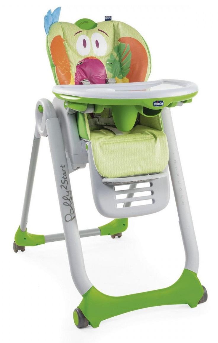 Стульчик для кормления Chicco Polly 2Start Parrot (+ Защитный чехол СМЕШАРИКИ в подарок!)
