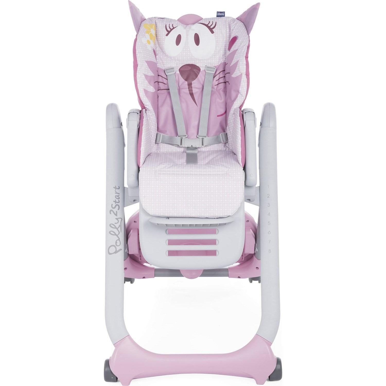 Стульчик для кормления Chicco Polly 2Start Miss Pink (+ Защитный чехол СМЕШАРИКИ в подарок!)