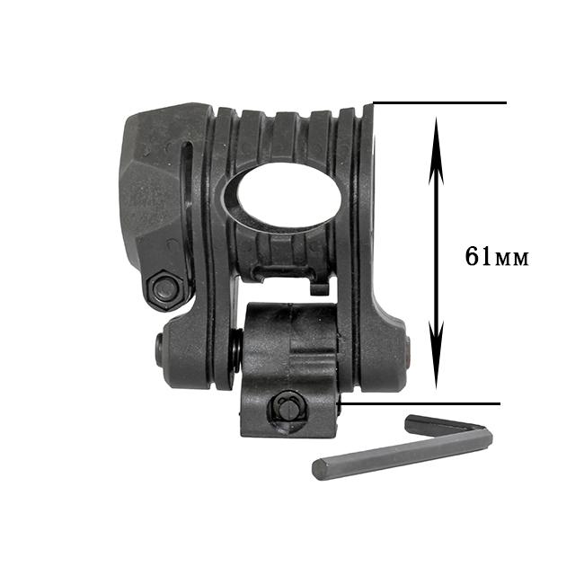 Крепление для фонаря на гладкоствольное оружие (High Quality Plastic 25-31 мм) (+ Антисептик-спрей для рук в подарок!)